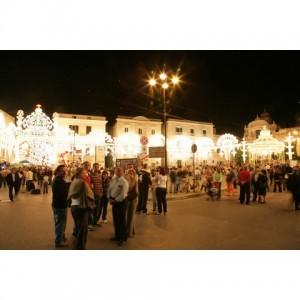 La Piazza Plebiscito illuminata