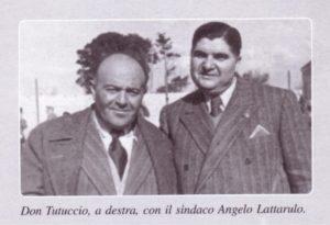 Don Tutucci Castellana (a destra), con il Sindaco Angelo Lattarulo
