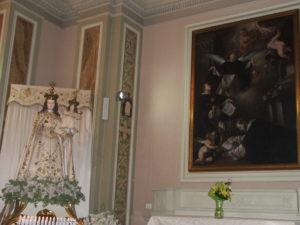 1. Madonna del Rosario e tela con i Santi domenicani