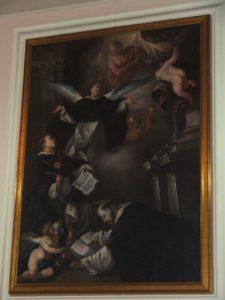 3. Dipinto ad olio su tela con  i tre Santi domenicani