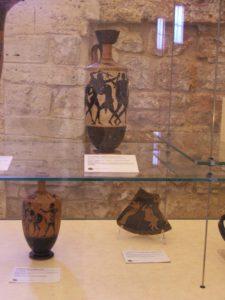 La contesa delle armi di Achille, partenza di cavalieri, Agamennone turbato.JPG