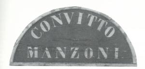 Targa Convitto Manzoni