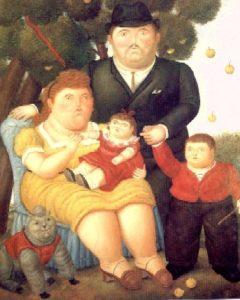 Famiglia sovrappeso (Fernando Botero)