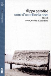 """La copertina del libro di Filippo Paradiso """"Orme d'uccelli nella neve"""""""