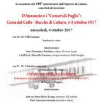 Gabriele D'Annunzio e il Centenario dell'impresa di Cattaro