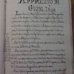 Apprezzo di Gioia del 1640