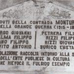 Il monumento ai Caduti di Montursi